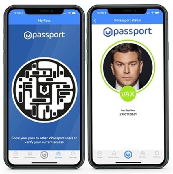La compañía británica de tecnología lanza el primer pasaporte de salud 'Fit to Fly' para viajes aéreos 'VPassport' 1
