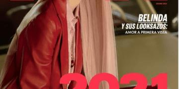 Belinda inicia el año como imagen de la portada de Elle México 12