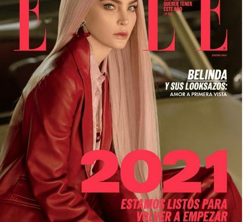 Belinda inicia el año como imagen de la portada de Elle México