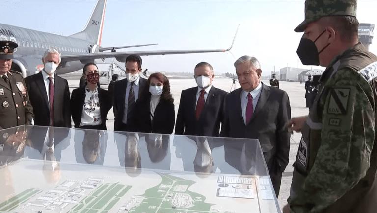 Inaugura AMLO pistas aéreas en Base Militar Número 1 de Santa Lucía 1