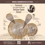 Nueva moneda de 20 pesos, conmemorativa del centenario de la muerte del general Emiliano Zapata Salazar 8