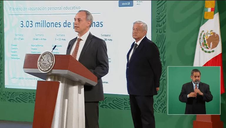 Personal educativo de Chiapas, Coahuila, Nayarit, Veracruz y Tamaulipas, serán los primeros en recibir vacunación contra Covid-19 1