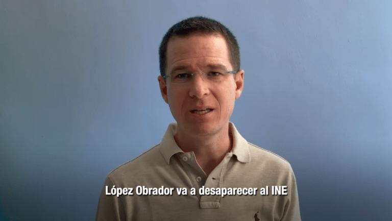 """""""Si Morena obtiene la mayoría necesaria, López Obrador va a desaparecer al INE y va a tomar el control de las elecciones"""", Anaya 1"""