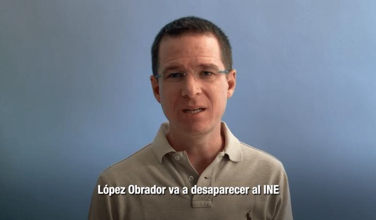 """""""Si Morena obtiene la mayoría necesaria, López Obrador va a desaparecer al INE y va a tomar el control de las elecciones"""", Anaya"""