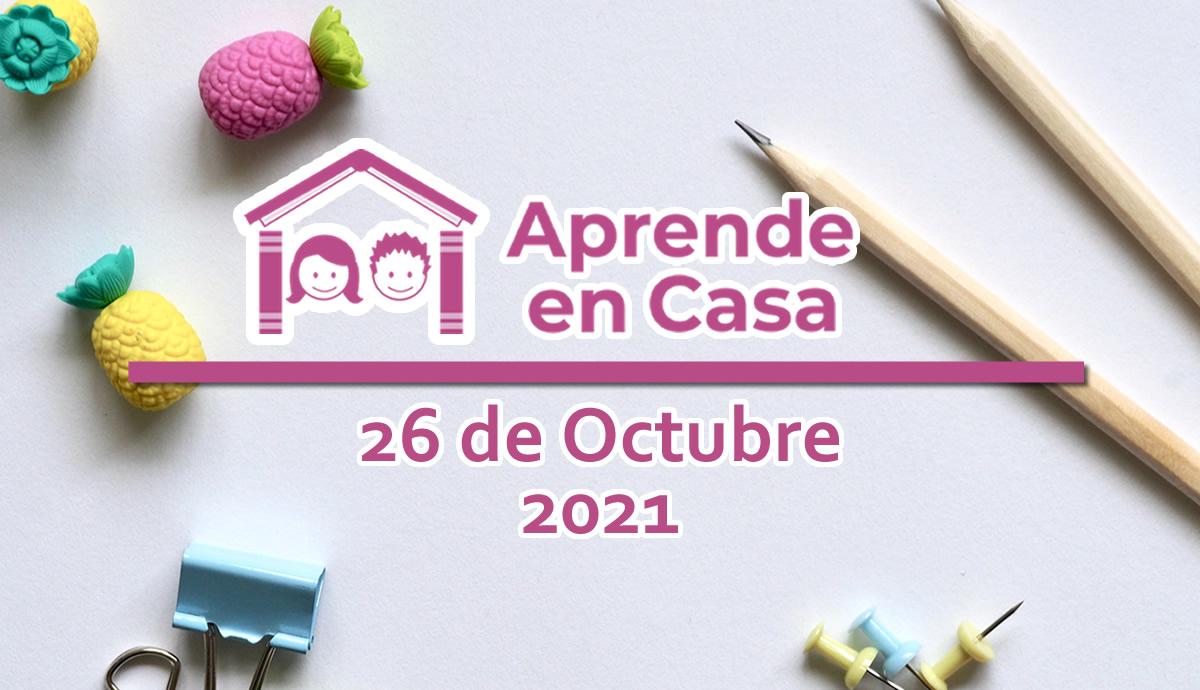 26 de octubre aprende en casa