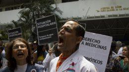 Protestas en los hospitales de Caracas.