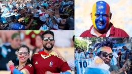 hinchas venezuela vs argentina