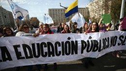 protesta de profesores en chile