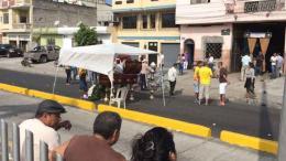 velorio de venezolanos en calle