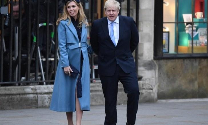 Boris Johnson y su novia