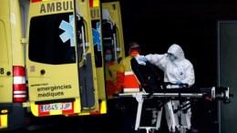 Ambulancia atendiendo la pandemia