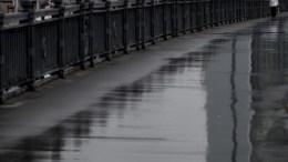 calle solitaria de Moscú