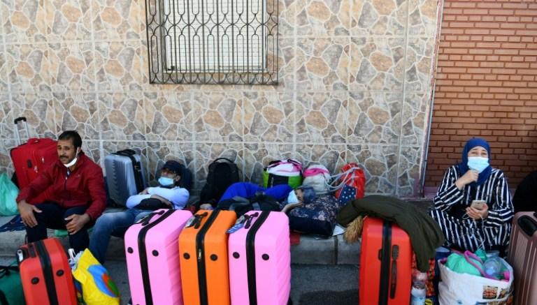Maletas de marroquíes varados por la pandemia