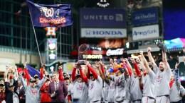 Nationals MLB celebran título de la Serie Mundial