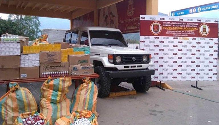 GNB decomisa contrabando de medicinas en Táchira