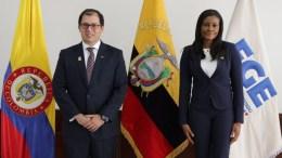 Visita de Fiscal Colombiano a Ecuador
