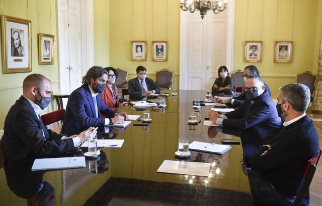 El gabinete económico sesionó por la mañana en el Salón de los Científicos de la Casa Rosada.