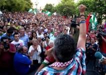 """71787aeeca0dfb525994d8cc2fad8c82 - Mas de 5000 personas gritan """"Gordillo, presidente"""" en la última movilización del SAT"""