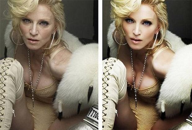 famosas photoshop madonna - Salvadas por el Photoshop