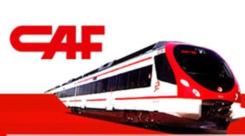 CAF, logo y Tren
