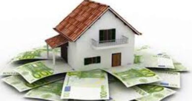 Euribor, casa sobre billetes de 100€
