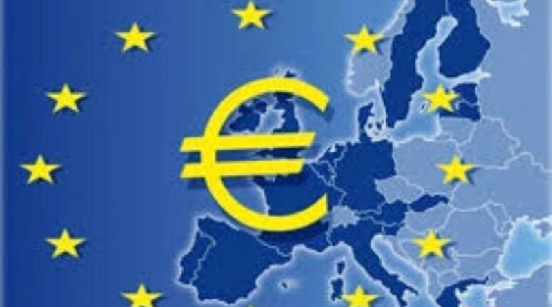 Europa bolsa mapa con €