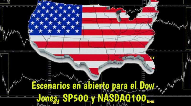 Escenarios para el Dow Jones, SP500 y NASDAQ100