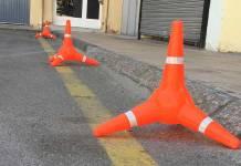 Zona de aparcamiento prohibido en Arnedo
