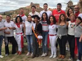 Sofía Ezquerro, con familiares y amigos