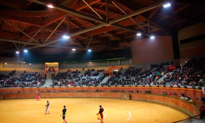 Aspecto del Arnedo Arena en la tarde del sábado 17 de marzo