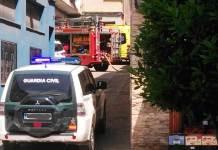 Recursos de Emergencia en el incendio en casco urbano de Arnedo