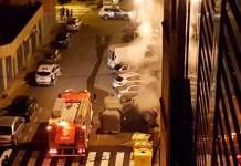 Bomberos del CEIS en Avenida Pio XII de Arnedo
