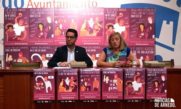 Presentación de la campaña 'Es Violencia Sexual' en el Ayuntamiento de Arnedo