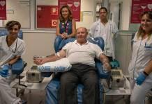 Jesús Fernández-Velilla en su última donación de sangre