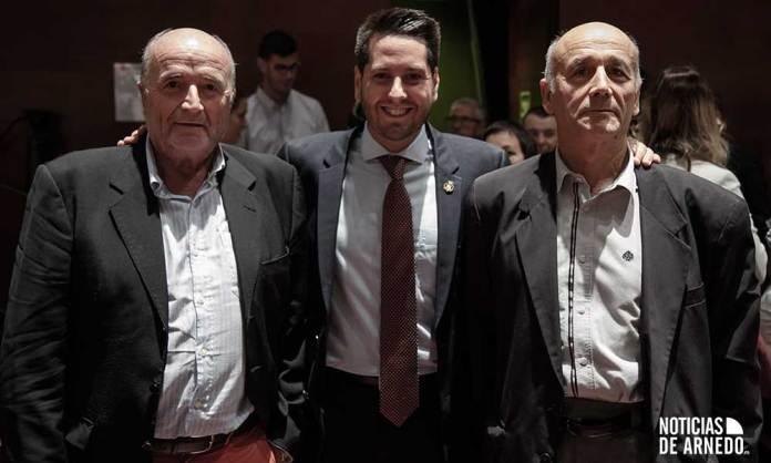 José María León Quiñones, Javier García y Santiago Orío, los tres alcaldes socialistas de Arnedo en democracia