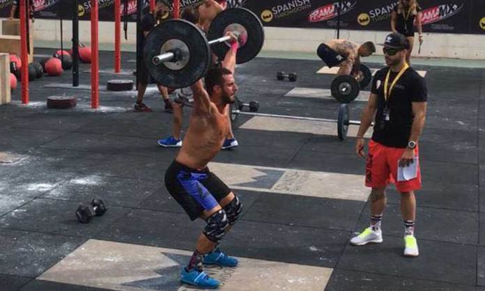 Jorge García, subcampeón de la Spanish Throwdown 2018, en un WOD