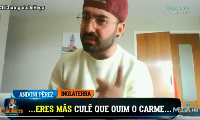 Andoni Pérez Mora, en 'el Chiringuito'
