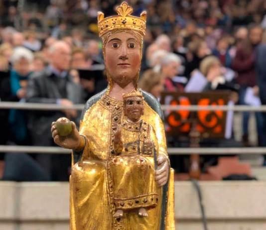La imagen de la Virgen de Vico de Arnedo en la EUNTES de Logroño