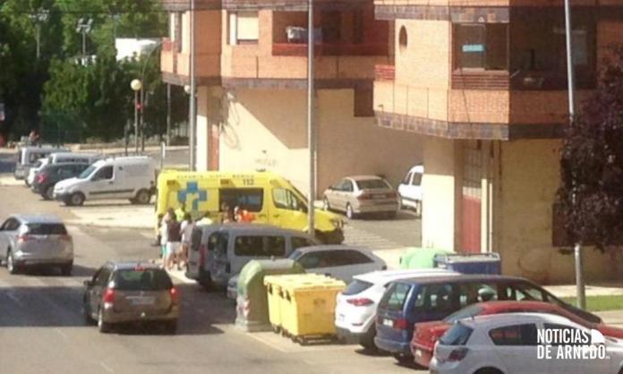 Servicios de Emergencias atienden un accidente de moto en Arnedo