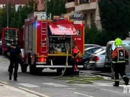 Bomberos del CEIS Rioja en incendio de contenedor en Arnedo