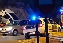 Accidente de tráfico junto a la gasolinera de Arnedo | Imagen J.M.M.C.