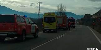 Recursos de Emergencia en la LR-115 entre Arnedo y Quel