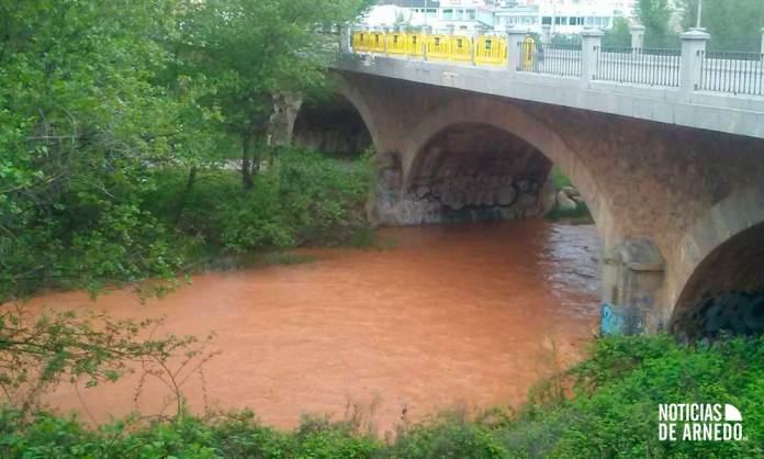 El río Cidacos en Arnedo el viernes 24 de abril de 2020