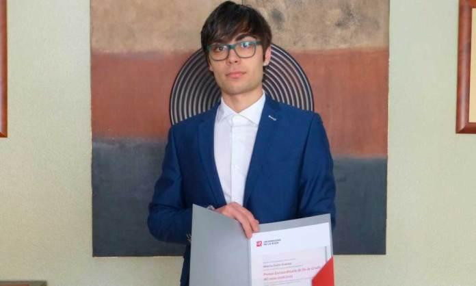Alberto Otaño Jiménez, Premio al Mejor Expediente del Grado en Ingeniería Electrónica y Automática