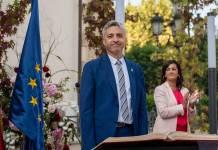 Francisco Ocón el día de su toma de posesión como Consejero en el Gobierno de La Rioja