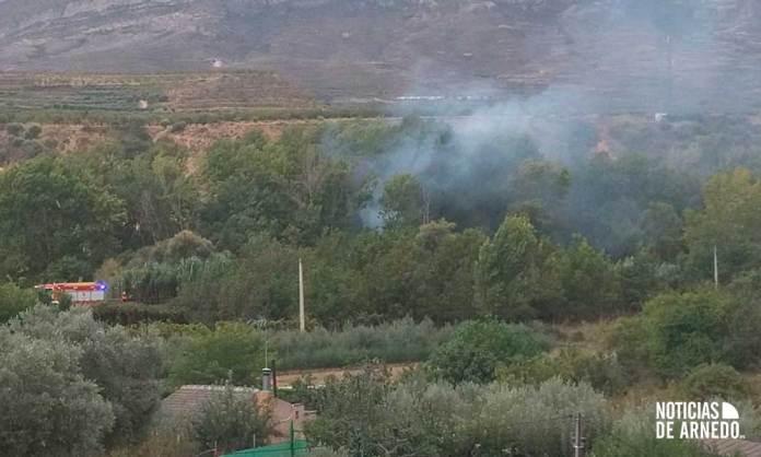 Incendio junto a la Vía Verde que conecta Herce con Arnedo