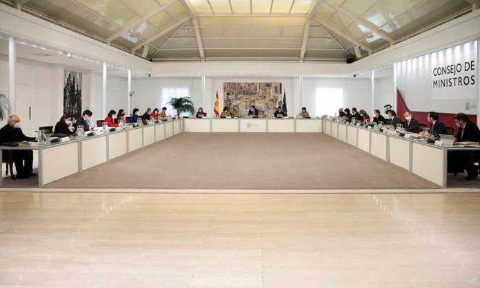 Consejo de Ministros del Gobierno de España (Diciembre 2020)