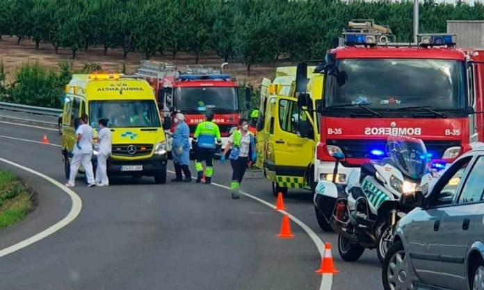 Imagen del accidente enviada por una lectora a Noticias de Arnedo