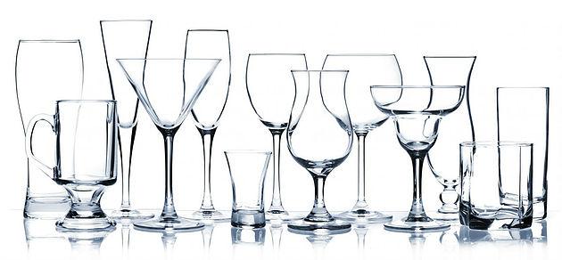 limpiar las copas de vidrio