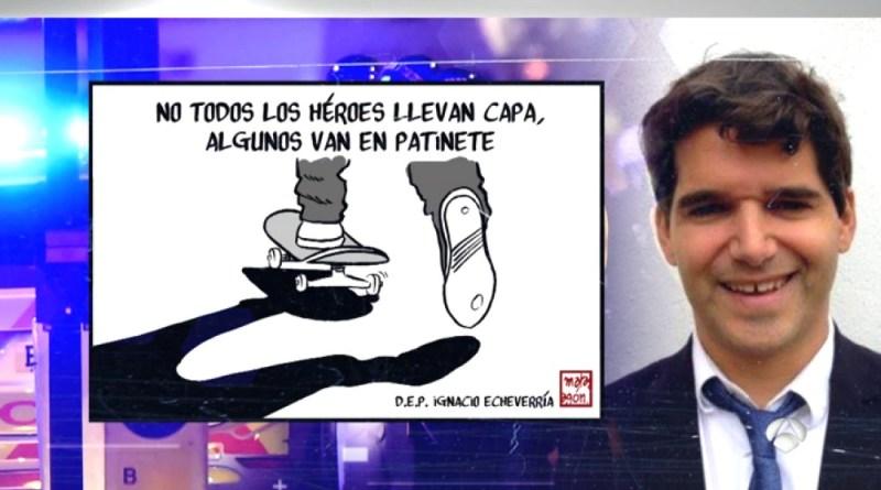 Ignacio Echeverria, héroe en patinete